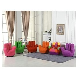 夏小姐的店五指沙發懶人沙發椅手指沙發手掌沙發椅單人卡通兒童沙發TW