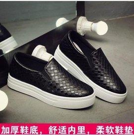 米子家居 春 樂福鞋女鞋厚底 鞋 小白鞋平底單鞋一腳蹬懶人鞋2-15