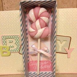 寶寶生日派對 週歲 周歲 生日蠟燭 蠟燭 糖果粉2歲蠟燭