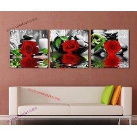 ~厚0.9cm~玫瑰石頭 簡約無框畫客廳裝飾畫臥室家飾餐廳~260110_0361~~30