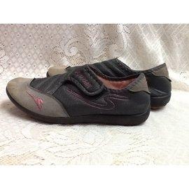 H78~灰色 休閒鞋~ 39~楔型厚底 高跟鞋 涼鞋 休閒鞋 鞋 長靴 短靴 裸靴~AS
