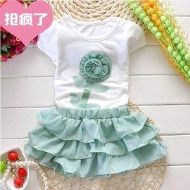0~1歲小女孩 夏裝2~3歲半女童短袖套裝嬰幼兒短裙子夏天衣服薄