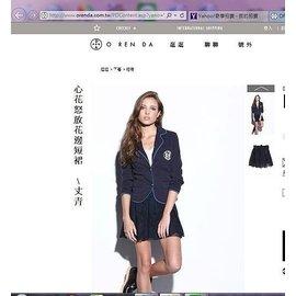 ORENDA心花怒放花邊短裙S號/全新轉賣/A&F,Hollister日本snidel相似款~