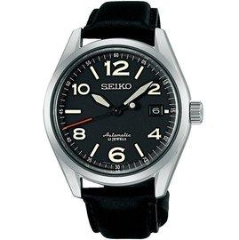 SEIKO 6R15 23石機械腕錶 SARG011J ~黑x黑色錶帶 40mm 6R15