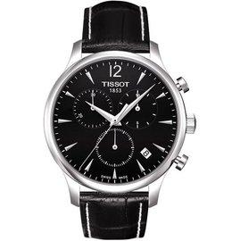 TISSOT TRADITION 復刻計時腕錶~黑 42mm T0636171605700
