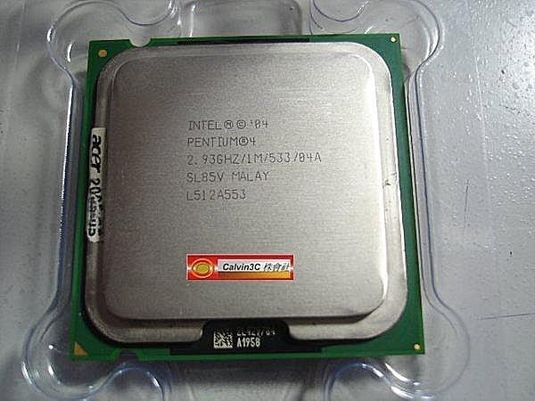 Intel Pentium4 515 正式版 775腳位 速度2.93G 533MHz 1M 90nm 單核心 含原廠風扇02