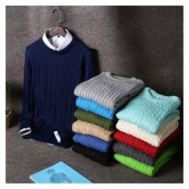 毛衣男圓領薄款套頭修身青年學生長袖針織衫男裝 男士羊毛衫