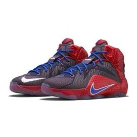 NIKE LEBRON XII GS 蜂窩網布籃球鞋^(紅藍白^).685181