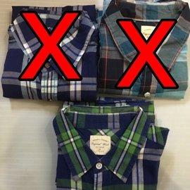Lativ 短袖 格紋襯衫^(150元^)
