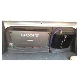 汽車音響SONY擴大器XM~100 換車良品Nakamichi CD MP3 USB