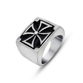 霸氣十字架戒指男士鈦鋼飾品復古潮人單身 指環飾品SA584