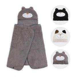 LIVHEART茶米貓家居多用披肩斗篷外套空調毯可愛送女生日