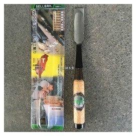 ~仁誠 ~舍樂力 Sellery 木柄木工鑿刀 21mm 中碳鋼 橡木 92~675  W