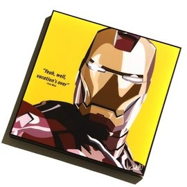 FAMOUS POP ART 普普風 掛畫 IRON MAN 英雄系列 鋼鐵人 黃底  F