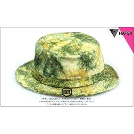 全新正品 HATER 2014 BUCKET HAT 漁夫帽 墨綠 黃 拼接 渲染 三角 小金標 男女皆可戴