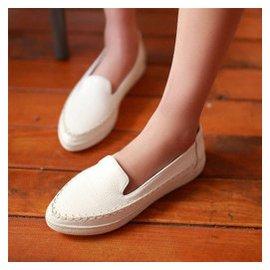 鑫融盛世通 護士鞋 白色真皮女鞋 坡跟 工作鞋單鞋 厚底小白鞋貨到 ! 白色 36