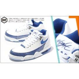 NIKE FLIGHT SQUAD 724986-100 喬丹 白藍 果凍底 AJ 四代底 男鞋 籃球鞋