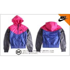 NIKE WINDRUNNER 風衣 連帽外套 545909-455 拼接 紫 深藍 黑 運動 輕量 女款