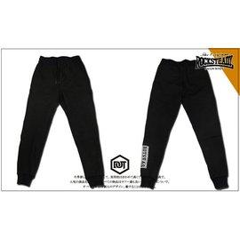 ROCK STEADY RS 歐美風 棉質 棉褲 長褲 窄版 束口褲 縮口 3M反光 長方框 LOGO 黑