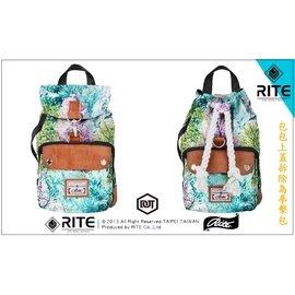 保證正品 RITE 2015 新款 雙生包 拳擊包 x 探索包 一包兩用 尼龍 潑墨 綠黃 可拆 購物袋