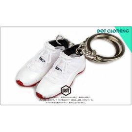全新 JORDAN AJ 1代 11代 LOW 配色 果凍底 球鞋 模型 鑰匙圈 白紅 黑藍 怪物奇兵