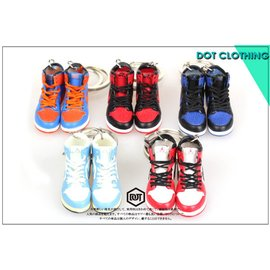 全新 JORDAN AJ 1代 11代 OG 配色 果凍底 球鞋 模型 鑰匙圈 紅白 黑藍 一雙價