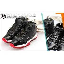 全新 JORDAN AJ 1代 11代 OG 配色 果凍底 球鞋 模型 鑰匙圈 黑 紅 櫻木花道 一雙價