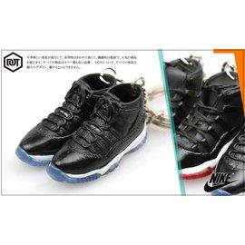 全新 JORDAN AJ 1代 11代 OG 配色 果凍底 球鞋 模型 鑰匙圈 黑紅 黑 藍 怪物奇兵
