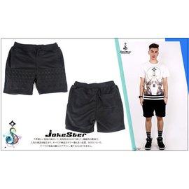 全新正品 海外購入 Jokester 浮雕 立體 短褲 棉質 棉褲 鉚釘 五芒星 全黑 男款