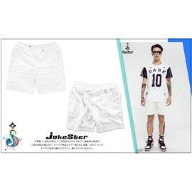 全新正品 海外購入 Jokester 浮雕 立體 短褲 棉質 棉褲 鉚釘 五芒星 全白 男款