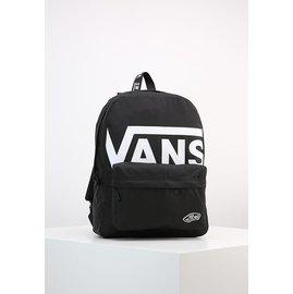 Vans Logo Realm Backpack  大Logo 後背包 書包 黑