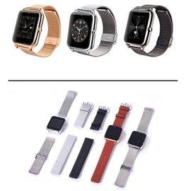 Z50智慧手錶全金屬手錶可插卡藍牙手錶 QQ微信健康監測 觸摸屏 智慧型電話手錶 ^#86