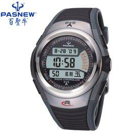 百圣牛运动手表 电波表男士自动对时军表防水 男表手表正品登山表