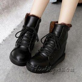 優樂購~馬丁靴潮女短靴加絨防滑冬鞋平底女士馬靴棉靴馬汀孕婦皮靴