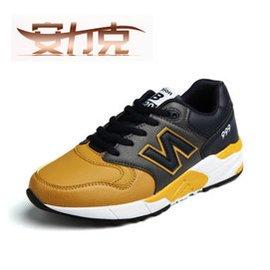 安力克  鞋 情侶 男鞋 男女厚底板鞋 男士增高慢跑 皮鞋 駕車耐磨防滑潮鞋 男款~深藍土