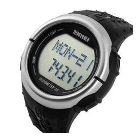 時刻美潮流 男表防水戶外 計步測心率多 手表電子表男學生腕表 1058 黑面