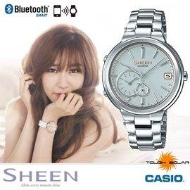 CASIO SHB~200D~7A~SHEEN系列 少女時代~35mm 智慧型藍芽手錶 銀