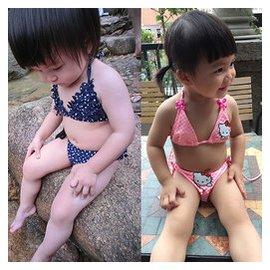 出口 夏裝可愛韓國兒童泳衣女童泳裝嬰兒寶寶比基尼分體遊泳衣