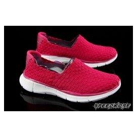 【买鞋送裤】 SKECHERS 女DEEAM 粉红编织 休闲鞋 健走鞋 女 # 12032PNK