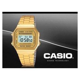 CASIO 復古方形電子錶 雙顯錶 A168WG~9W 防水 A168WG~9