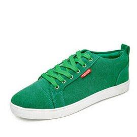 2014 潮 男鞋男士 鞋透氣潮鞋 板鞋皮鞋子內增高~886 草綠色 44