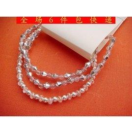 原單外貿女飾品首飾 銀色珠子透明亞克力珠子混搭細手鏈