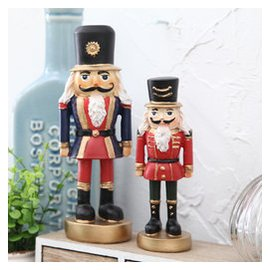 美式胡桃夾子木偶士兵小擺件 兒童房家居臥室裝飾品擺設
