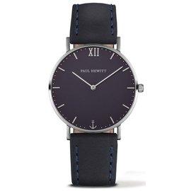 PAUL HEWITT Sailor Line 腕錶 銀框x藍面 藍皮革錶帶