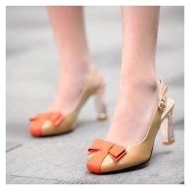 2014 小碼30~33真皮方頭大碼女鞋40~43高跟女全皮粗跟涼鞋