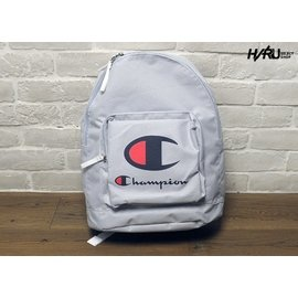 美國 CHAMPION BASIC 2 LOGO BACKPACK 灰 雙LOGO 款 後