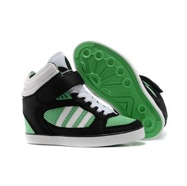 adidas AMBERLIGHT UP 黑綠白 透氣 內增高女鞋 2014愛迪達鞋子 休閒板鞋 特價女鞋