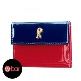 ~wbar~ROBERTA DI CAMERINO紅藍迷你錢包 皮夾 零錢包