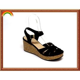 ~A203~黑色~~.╮莎拉公主 2015春夏 ~ 氣質美女 ~ 百搭楔型涼鞋 羅馬涼鞋
