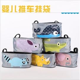 ~ ~ 最低 嬰兒推車掛袋卡通動物收納袋防水帆布收納包嬰兒車收納包